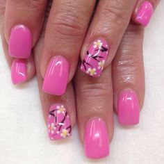 Cherry Blossom accent nail