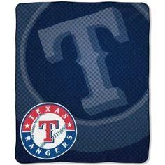 Texas Rangers 50x60 Retro Style Royal Plush Raschel Throw Blanket