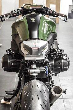 "BMW R 1200 R ""Goodwood by VTR Customs - Moto Revue - loicboisdur - Mypicturesstyle Cafe Bike, Cafe Racer Bikes, Triumph Cafe Racer, Custom Bmw, Custom Bikes, Bmw K1100, Bobbers, Nine T, Bmw Boxer"