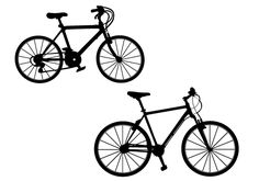 Free Bicycle Silhouette Vector Free Download