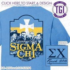 TGI Greek - Sigma Chi - Rush - Greek Apparel #tgigreek #sigmachi