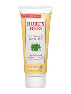 Buy Burt's Bees Soothingly Sensitive Aloe & Buttermilk Body Lotion for Sensitive Skin, from our Body Care range at John Lewis & Partners. Free Delivery on orders over Everyday Beauty Routine, Natural Moisturizer, Body Lotions, W 6, Moisturiser, Organic Beauty, Aloe Vera, Sensitive Skin, Body Care