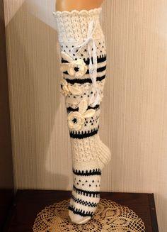 Crochet Socks Pattern, Crochet Slippers, Crochet Stitches, Knit Crochet, Crochet Hats, Wool Socks, Knitting Socks, Hand Knitting, Knitting Patterns