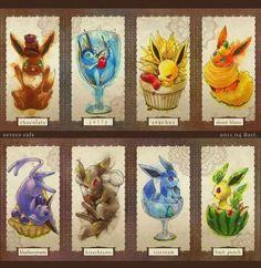 eevee, vaporeon, jolteon, flameon, espeon, umbreon, glaceon, leafeon, pokemon