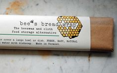 """Bee's Wrap is a reusable beeswax and cloth alternative to plastic wrap. Use the warmth of your hands to mold the Bee's Wrap to create a seal around the top of a bowl, half of a lemon, a crusty loaf of bread, wrap cheese or a sandwich, when cool the wrap stiffens holding its shape and seal. Rinse with cool water and use again and again."