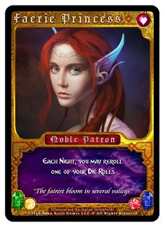 """""""Faerie Princess"""" card from Tavern Masters fantasy card game (Games Of Chance Expansion) by Dann Kriss. Art by Galen Ihlenfeldt. Dann Kriss Games LLC ® All Rights Reserved Faeries, The Expanse, Card Games, Masters, Fantasy, Princess, Cards, Master's Degree, Fairies"""