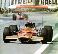 Jochen Rindt Lotus Montjuich Park Not a happy day for Team Lotus; the death-knell was sounded for high wings that afternoon. Lotus F1, Lotus Sports Car, Jochen Rindt, Spanish Grand Prix, Gilles Villeneuve, Formula 1 Car, Racing Events, Indy Cars, F1 Racing