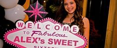 Cute Sweet 16 Vegas themed sign #sweetsixteen #birthday #party