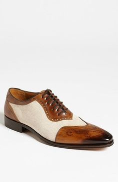 Mezlan 'Lino' Spectator Shoe available at #Nordstrom Where's Gatsby? I've found his shoes. wowza!