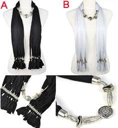 jewelry scarf CCB beads lady fashion shawl black white, free shipping