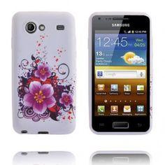 Mobilskalet Symphony (3 Lila Blommor - Andra) Samsung Galaxy S Advance Skal
