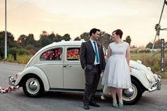Beetle getaway car, shot by frenzelphotographers | VIA #WEDDINGPINS.NET