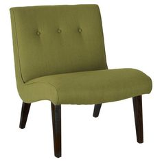 Featuring a birch wood frame and curved design, this midcentury-inspired accent chair brings stylish appeal to your master suite or living room.