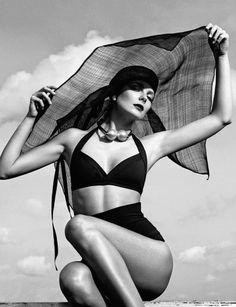 Vintage Beachwear Editorials - Eniko Mihalik Stars in the Numéro Russia June 2014 Issue (GALLERY)