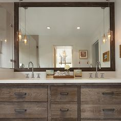 Antique Finish on Vanity, Contemporary, bathroom, Artistic Designs for Living