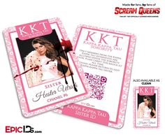 Kappa Kappa Tau 'Scream Queens' Sorority Cosplay ID - Chanel #6 (Hester Ulrich)