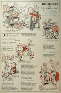 """""""The Kewpies and the Better Baby"""" in 1913 Ladies Home Journal"""
