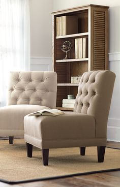 I like this chair style for part of the living room. Doesn\'t take up ...