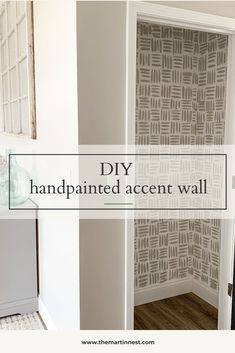 DIY Handpainted Accent Wall on the cheap - themartinnest.com