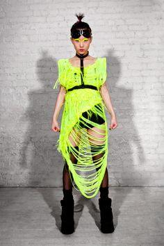 Amazing Jylle Navarro neon webbed knit!
