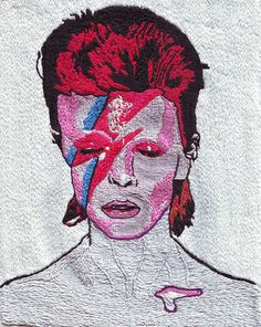 David Bowie Embroidery by Jared Brown !!!