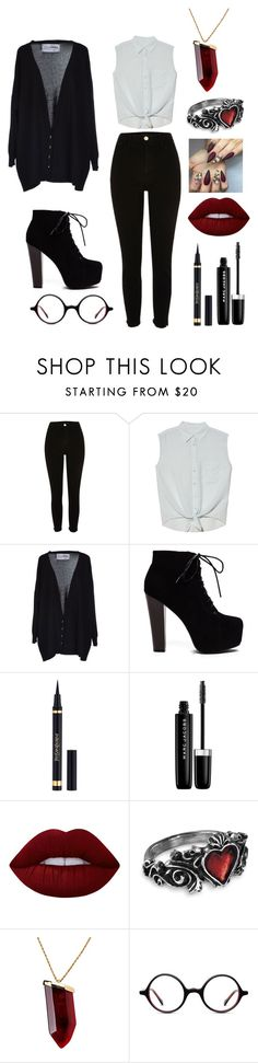"""Untitled #787"" by desertunknownwolf ❤ liked on Polyvore featuring River Island, Equipment, FourMinds, Yves Saint Laurent, Marc Jacobs, Lime Crime, Kenneth Jay Lane and Muse"