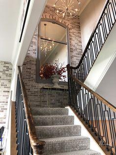 Mock Croc Stair Carpet - Jennifer Allwood Home Stair Landing Decor, Staircase Wall Decor, Stairway Decorating, Stair Decor, Staircase Design, House Stairs Design, Stair Walls, Plan Duplex, Home Interior Design