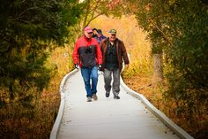 Walk our nature trails in autumn. Fall, foliage, Cape May Point, Ocean City, Jersey Cape, Cape May County, New Jersey