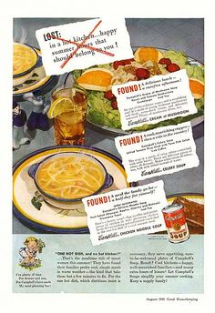 1941 Campbell's Chicken Noodle Soup Ad