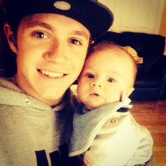 Last time i seen this little man he was 4 weeks old! He is the best baby ever - Niall Horan and Theo Horan