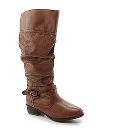 BLACK SIZE 8  Steve Madden Casstrow Wide Calf Slouch Boots #Dillards