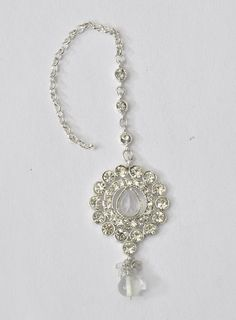 Silver Mang tikka Indian Jewelry With Stones
