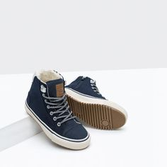 Image 5 of LINED HIGH-TOP SNEAKERS from Zara