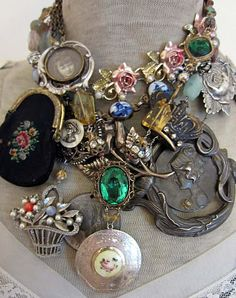 Vintage Assemblage Jewelry from The French Circus