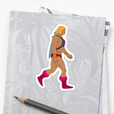 'He-Man Master Of The Universe' Sticker by CavemanMedia Universe, My Arts, Golf, Art Prints, Stickers, Printed, Awesome, Artist, People