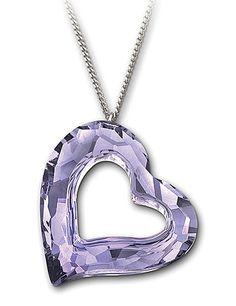 purple swarovski necklace - Google Search