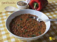 Chili di lenticchie ricetta vegetariana tex-mex il chicco di mais