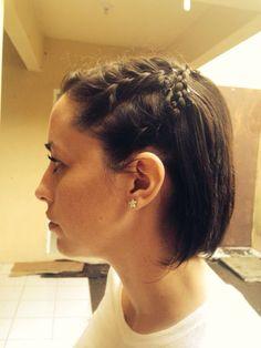 Trenza en pelo corto