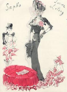 Lucien Lelong (Couture) 1944 Ce soir on Joue...Sapho, Christian Bérard