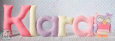 Felt baby name nursery decor Personalized Baby Nursery by TiTics