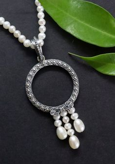 Pearl Necklace, Charmed, Pearls, Bracelets, Jewelry, Silver Jewellery, String Of Pearls, Pearl Jewelry, Neck Chain