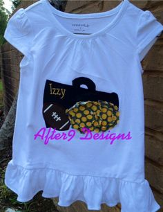 Girl Cheer Applique Shirt sports team any by AfterNineDesigns, $22.00