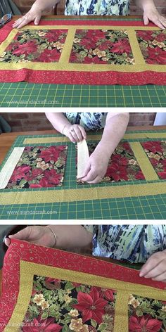 Easy Quilted Christmas Table Runner - A nice and easy table runner pattern to make. Full step by step tutorial - video and written.Fantastic 50 sewing projects projects are available on our internet site. Read more and you wont be sorry you did. Quilting For Beginners, Sewing Projects For Beginners, Édredons Cabin Log, Christmas Quilting Projects, Table Runner Tutorial, Project Table, Christmas Runner, Diy Christmas, Crochet Christmas
