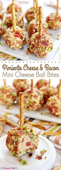 Pimiento Cheese & Bacon Mini Cheese Ball Bites