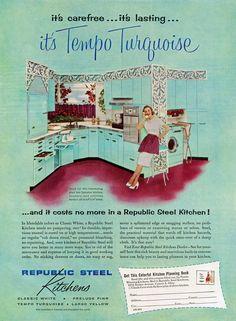 Republic Steel Kitchens — Tempo Turquoise