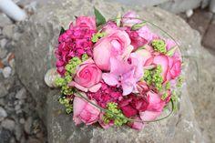Brautstrauß in Pink und Apfelgrün - Wedding bouquet pink and green - Hochzeit am Riessersee in Garmisch-Partenkirchen, Bayern, Riessersee Hotel Resort - Wedding in Bavaria, Garmisch