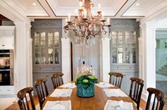 dining furniture and storage ideas for dining room design, storage furniture placement Dining Room Storage, Dining Room Design, Design Room, Interior Design, Built In Cupboards, Alcove Cupboards, Traditional Dining Rooms, Living Room Cabinets, Elegant Dining Room
