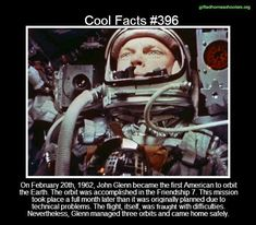 Cool facts #396  http://en.wikipedia.org/wiki/Mercury-Atlas_6
