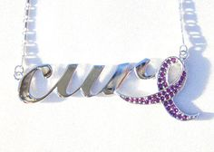 Purple Ribbon: Lupus, Fibromyalgia, Cystic Fibrosis, Alzheimer's, Pancreatic, Crohn's Disease, Colitis, Leiomyosarcoma and more by Go Sports Jewelry.com