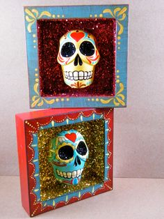 Use beads, molds, feathers, buttons, shells glitter. metallic paint, stickers
